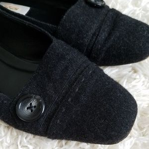 Talbots Shoes - Talbots black felted loafers